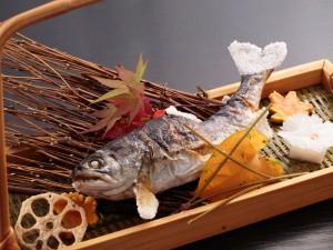 山女魚の塩焼き
